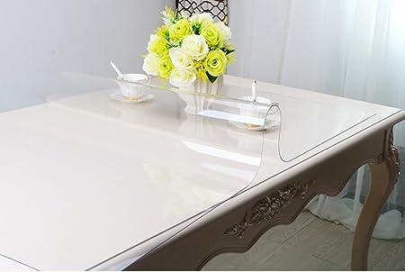 Se aplica a mesa mesa de centro Mueble de televisi Mantel, Full Size Más grueso 3.0mm PVC Vidrio suave Impermeable Anti-hot Wash away Mesa de centro transparente Placa de cristal Mesa de comedor Color resistente al desgaste antideslizante antifo (