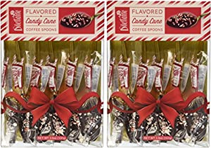 Gourmet Candy Cane Flavored Spoon Gift Box - By Dilettante (2 Pack)