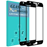 Samsung Galaxy J7 Prime / J7 V / Galaxy Halo / J7 2017 Screen Protector, TAURI [2-PACK][Full Cover][Tempered Glass] Screen Protector with Lifetime Replacement Warranty - Black