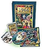 50th Birthday Gift Set: 1966 Flickback Book, DVD & Trivia Playing Cards