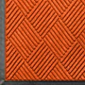 """Andersen 208 WaterHog Classic Diamond Polypropylene Fiber Entrance Indoor/Outdoor Floor Mat, SBR Rubber Backing, 10' Length x 4' Width, 3/8"""" Thick, Orange"""