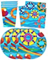 Pool Party Summer Splash Birthday Party Supplies Set Plates Napkins Cups Tableware Kit for 16
