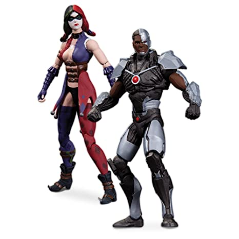 Injustice Cyborg vs. Harley Quinn DC Collectibles Action Figurines