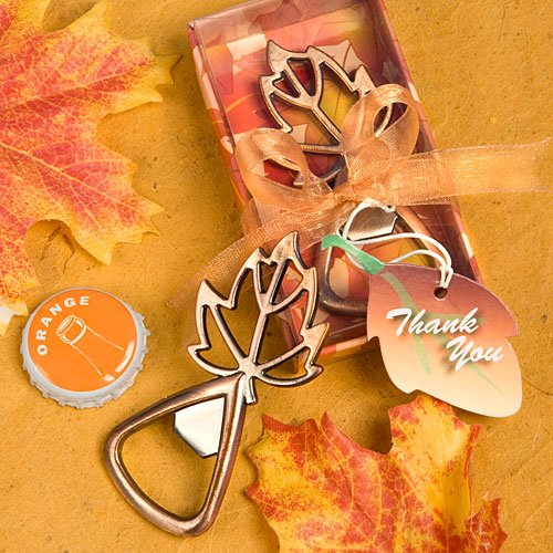 Fall Wedding Favors: Leaf Shaped Bottle Openers, 36