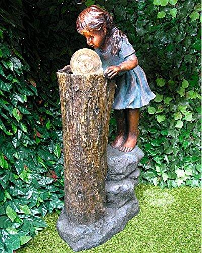 Garten & Deko 810 Zhisheng Fontaine La Magicienne avec pompe et éclairage LED