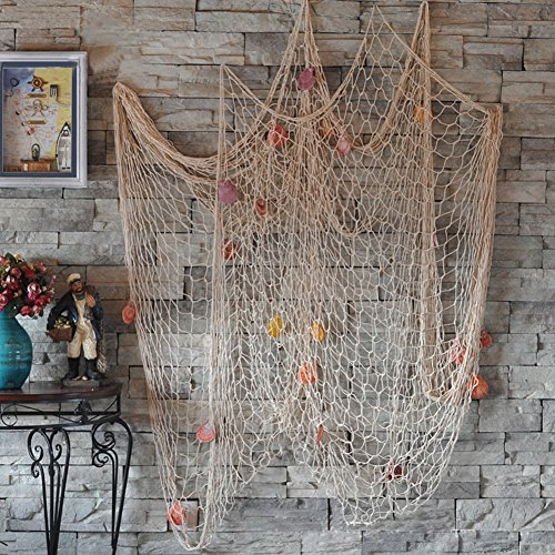 Froomer Nautical Fishing Net Seaside Wall Beach Party Sea Shells Decoration