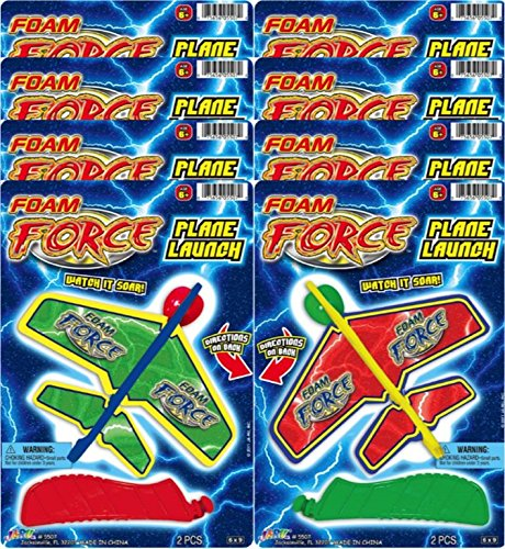 Ja-Ru Foam Force Plane Launcher Party Favor Bundle Pack