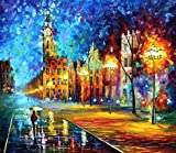 ***SUPER LARGE ARTWORK SALE***OLD TOWN is an OVERSIZED, ONE-OF-A-KIND, ORIGINAL OIL PAINTING ON CANVAS by Leonid AFREMOV