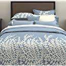 City Scene Branches Collection French Blue Duvet Set Fullqueen