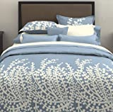 City Scene, Branches Collection, French Blue Duvet Set, Full/Queen