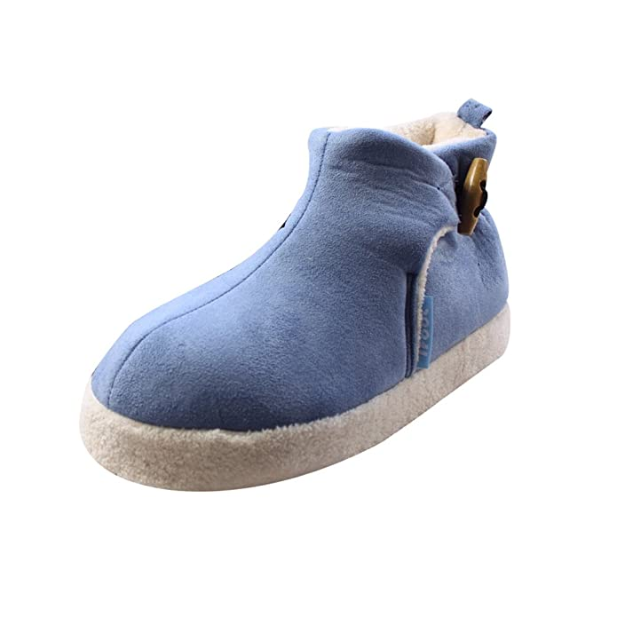 Amazon.com: Ifoot Women's Sherpa Lined Booties Suede Fleece ...