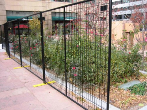 Portable Security Fencing : Crowd control temporary fence panels perimeter patrol