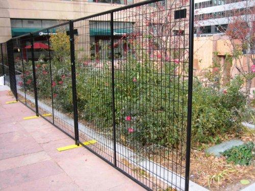 Crowd control temporary fence panels perimeter patrol