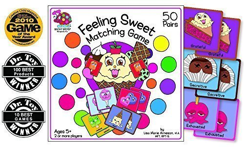 Feeling Sweet Matching Game (Play Therapy Game by Bright Spots Games) (Ice Cream Matching Game compare prices)