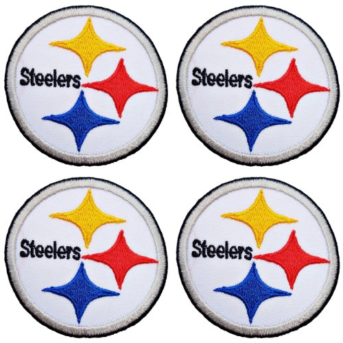 Pittsburgh Steelers Logo 2 5 Jerseys Super Bowl Football NFL SP401 Iron on Patches Lot 4 pcs