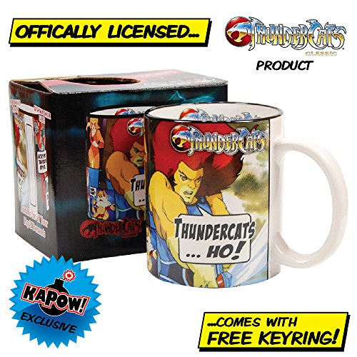 Official Thundercats mug with free keyring - Lion O classic 80s gift formen or women.