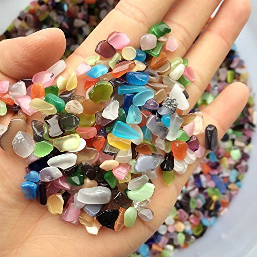 ZUINIUBI 250g Pebble for Aqurium Fish Turtle Tank Landscape bottom decoration Colorful opal glass Sand stone rocks glass ornament