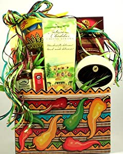 Fiery Foods Gourmet Gift Basket Spicy Foods Snacks And More Christmas Gift Or Birthday Gift Idea from Organic Stores