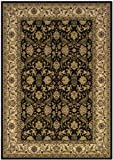 Couristan 6259/1000 HIMALAYA Isfahan 26-Inch by 90-Inch Polypropylene Area Rug, Ebony/Antique Creme