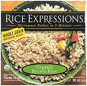 Rice Expressions Brown Rice, 100% Organic, 30 oz (Frozen