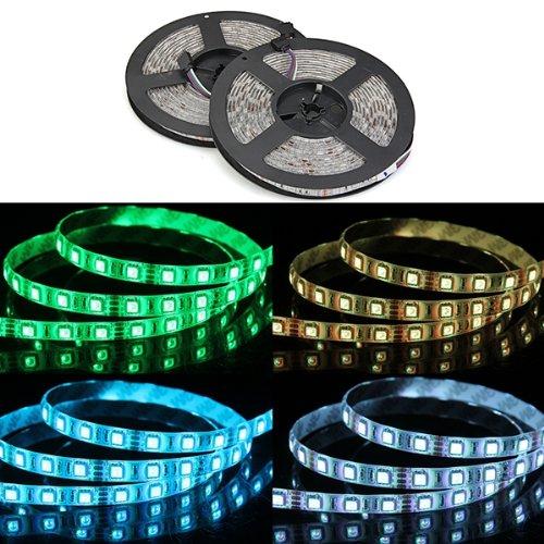 2x5M 10M Striscia Luce Impermeabile 600 LED SMD 5050 DC 12V RGB Nuovo per Casa