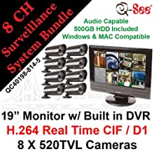 Q-SEE QC40198-814-5 8 CH Complete CCTV Bundle Package Kit: 19