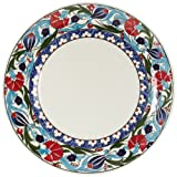 Turkceramics Imported Classic Hand Painted Border Plate (25 cm)
