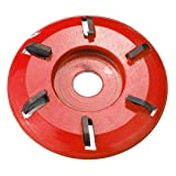 Six-Teeth Blade Red Power Wood Carving Disc Angle Grinder Attachment For 16mm Aperture Angle Grinder (Color: Arc Teeth)