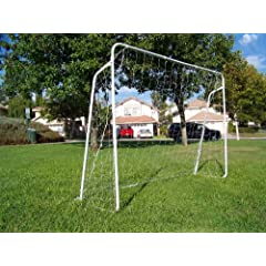 Buy Two Soccer Goals, 25mm Steel Tubes. 7' x 5' Each, New W nets and Anchors. 7x5 by Petra