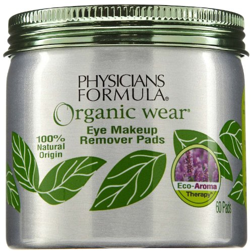 Physicians Formula Organic Wear Eye Makeup Remover Pads, 60 ct