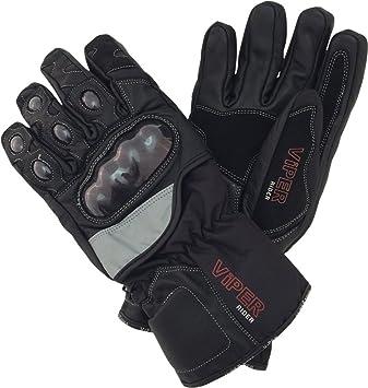 Viper Dimension en cuir Motif plantes aromatiques Sport Gants de moto imperméable Noir