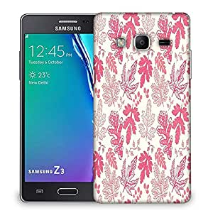 Snoogg Red Leaves Designer Protective Phone Back Case Cover For Samsung Galaxy Tizen T3