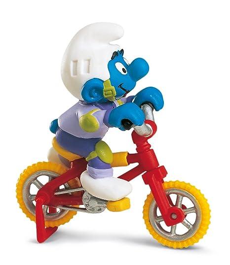 Schleich - 40252 - Figurine - Schtroumpf Vélo Acrobatique