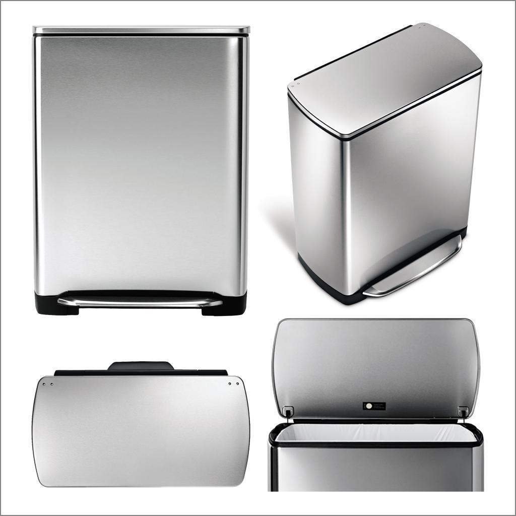 poubelle simplehuman 50 l maison design. Black Bedroom Furniture Sets. Home Design Ideas