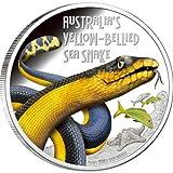 ツバル 2013年 危険動物 セグロウミヘビ 1ドルカラー銀貨 プルーフ