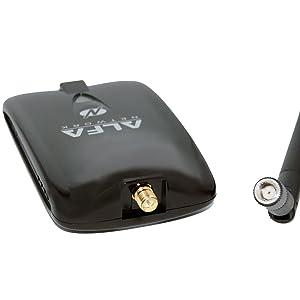 Alfa AWUS036NHA Wireless B/G/N USB Adaptor - 802.11n - 150 Mbps - 2.4 GHz - 5 dBi Antenna - Long Range - Atheros Chipset - Windows XP/Vista 64-Bit/128-Bit Windows 7 Compatible