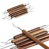 Gimiton 6 Pcs Clay Sculpture Set Pottery Carving Tools Clay Sculpting Tool Set Shapers Polymer Modeling Ergonomic & Non Slip