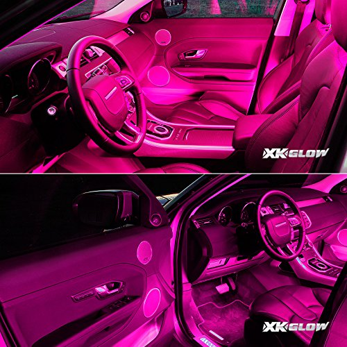 pink 4pcs 36 led waterproof three mode neon accent light kit for car interior trunk truck bed. Black Bedroom Furniture Sets. Home Design Ideas