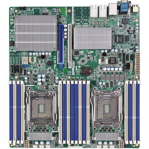 ASROCK EP2C602-2T/D16 / ASRock EP2C602-2TD16 Dual LGA2011 Intel C602 DDR3 SATA3 V&2GbE SSI EEB Server Motherboard