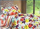 SKAP Black Bedsheet with 2 pillow covers