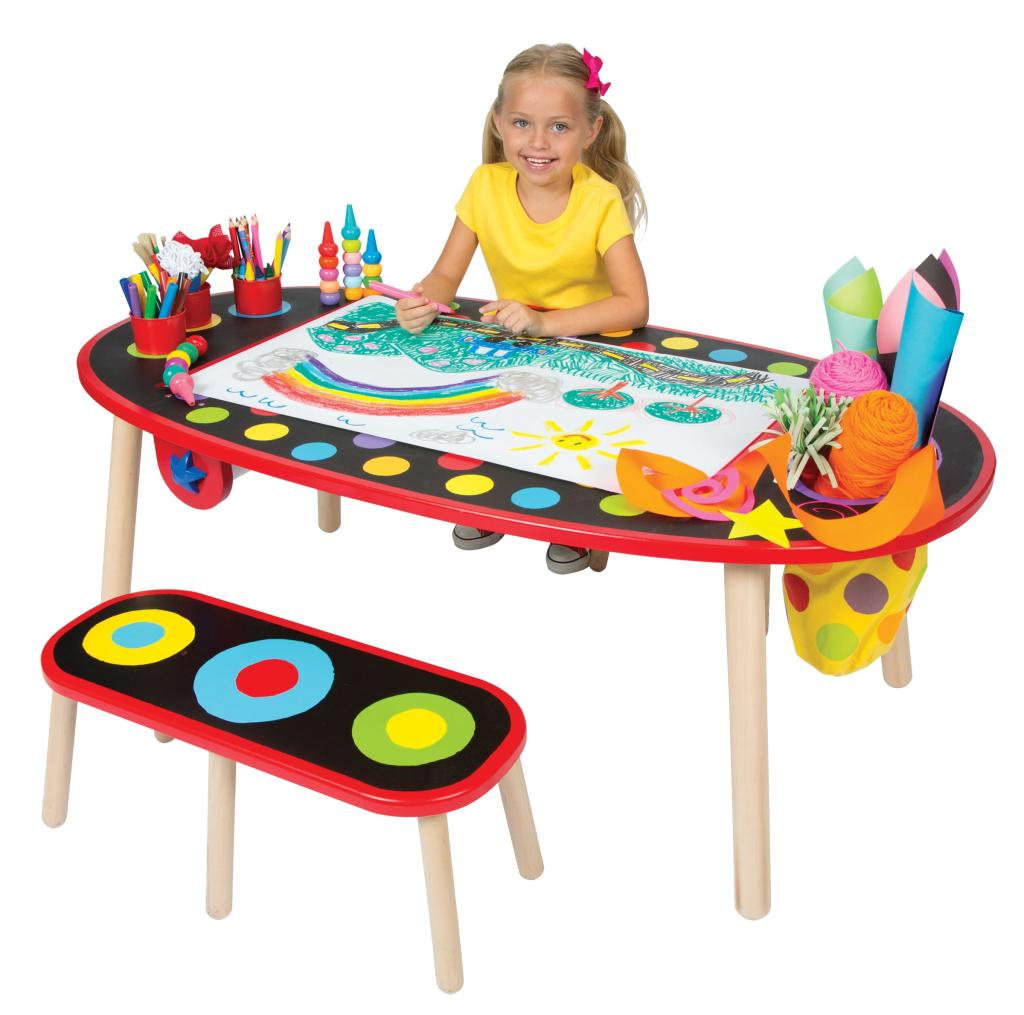 Melissa And Doug Table And Chairs ... ALEX Toys Artist Studio Super Art Table with Paper Roll: Toys & Games