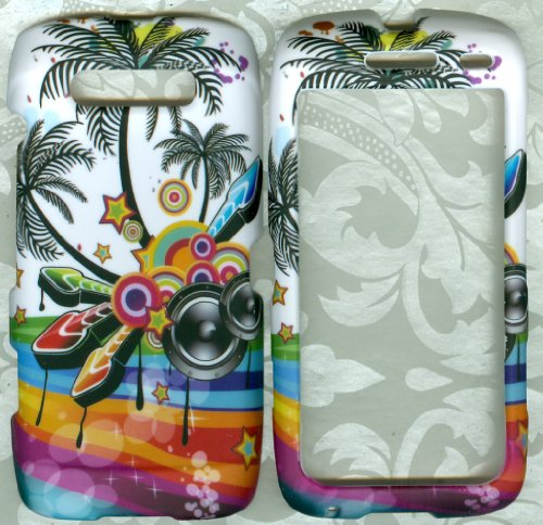 palm tree Blackberry 9850 Torch sprint verizon US Cellular phone cover case
