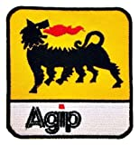 Agip Oil Lubricant Racing F1 Formula1 one Logo t-Shirts Embroidered Iron or Sew on Patch by Wonder Fullmoon