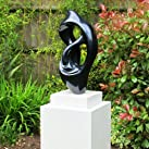 Modern Metallic Twist Abstract Garden Sculpture - Large Statues