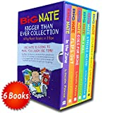 Big Nate Series Collection Lincoln Peirce 6 Books Box Set Gift Pack (Big Nate on a Roll, Goes for Broke, The Boy with the Biggest Head in the World, Strikes Again, Flips Out, In the Zone) Lincoln Peirce