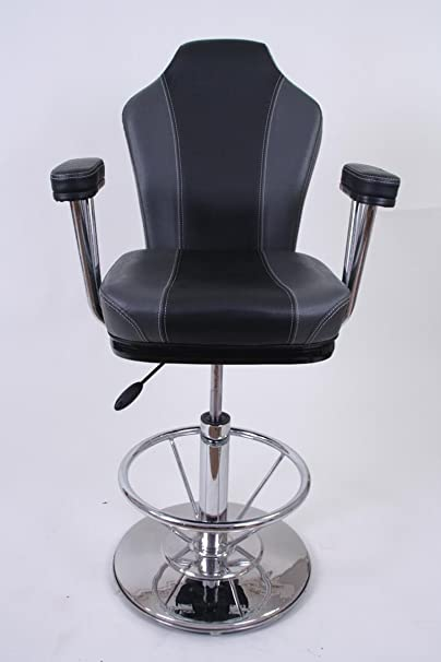Barstool black/grey Faux leather Luxe
