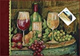 "Manual Wine On Barrel Tuscan Grapes Susan Winget Tapestry Placemats UWBRLP 18.5x13"" Set of 4 Multi"