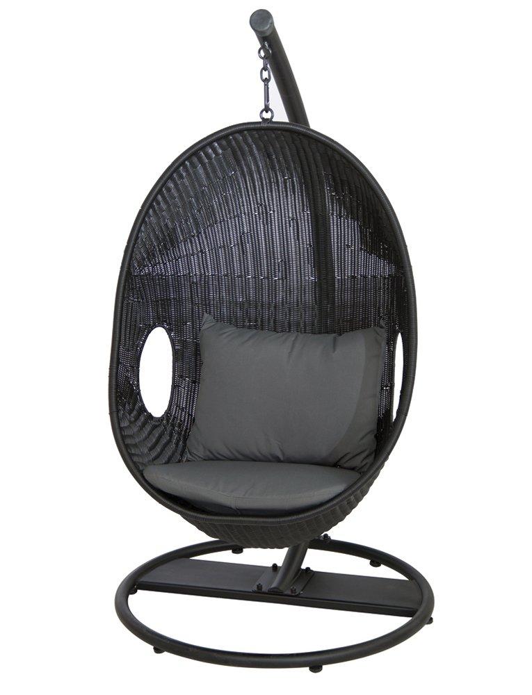 Siena Garden 672980 Hängekorb Riverside, schwarz, Kissen grau online bestellen