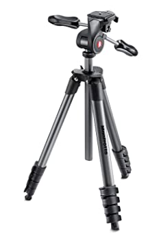 Manfrotto MKCOMPACTADV-BK Compact Advanced Tripod with 3-Way Head (Black) at amazon