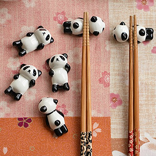 5 x Cartoon Panda StŠbchen Regal kreative Keramik StŠbchen Regal